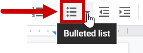 Bulleted List Example